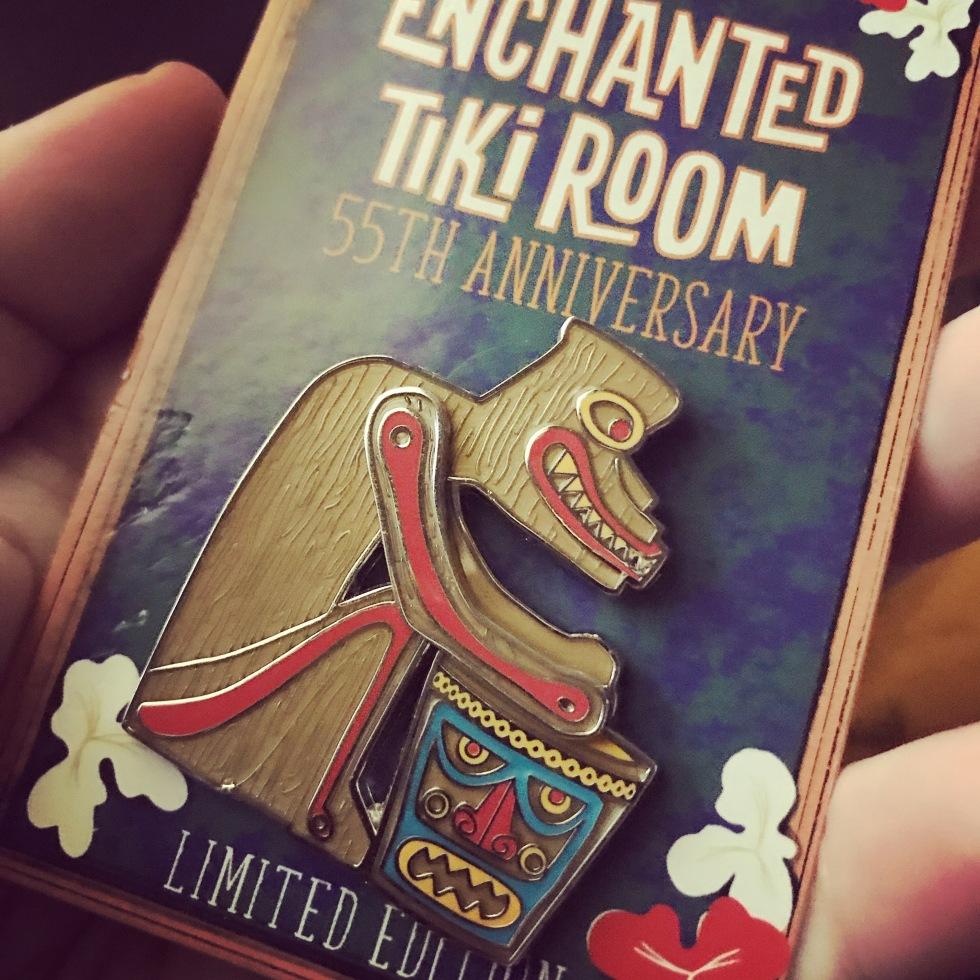 Enchanted Tiki room drummer pin